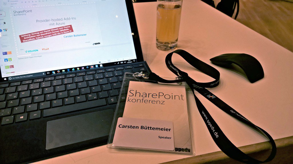 "Session ""Provider-hosted Add-Ins mit Azure"" auf der SharePoint konferenz"