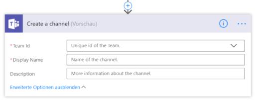 Kanal über Flow in Teams erstellen