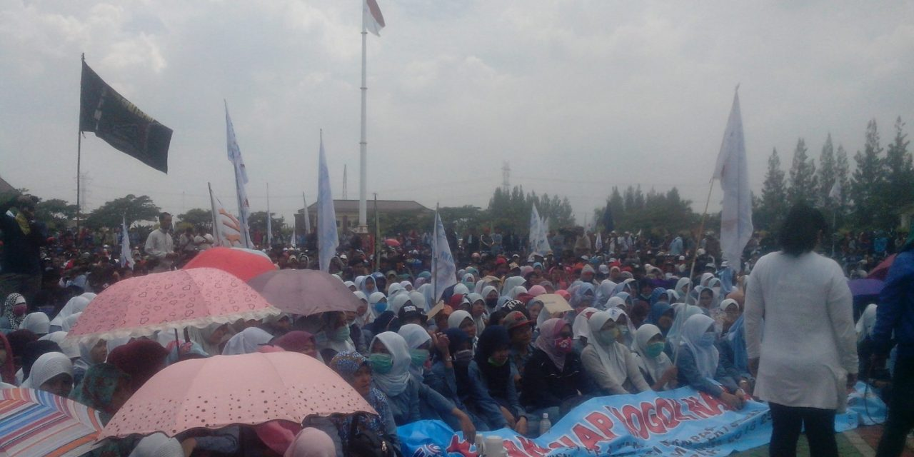 Buruh Kabupaten Bekasi masih melawan