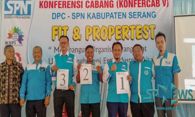 FIT AND PROFER TEST CALON KETUA DPC SPN KABUPATEN SERANG