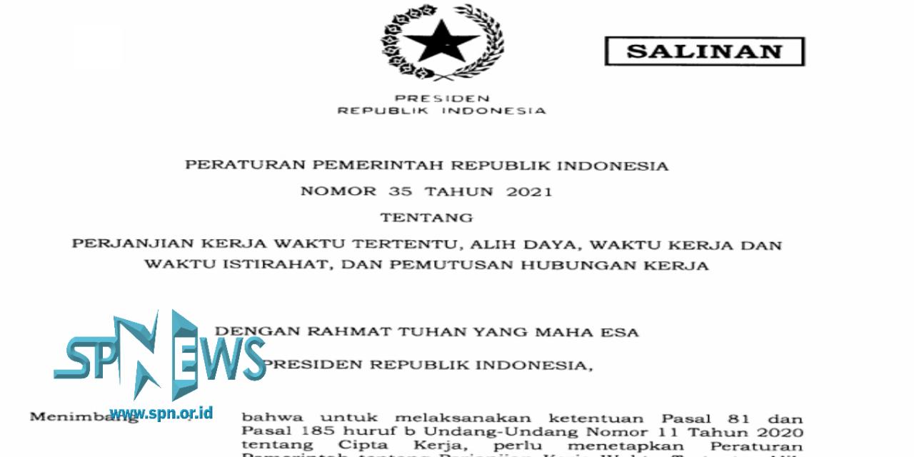 MENURUT PP No. 35/2020, REKRUTMENT PEKERJA OUTSCOURCING BERDASARKAN 2 HAL