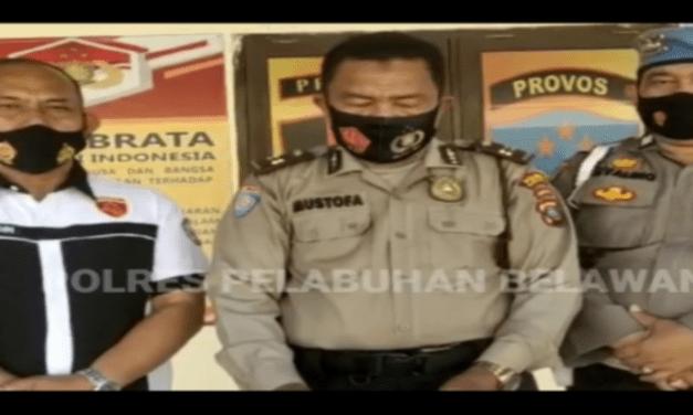 OKNUM POLISI TERDUGA ACUNGKAN PISTOL KE BURUH DIAMANKAN PROPAM