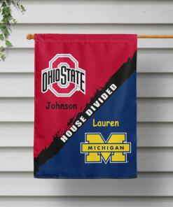 Ncaa 04 Ohio State Buckeyes Custom Personalized House Divided House Garden Flag Spnation Net