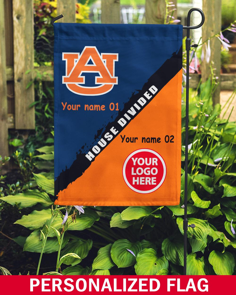 Ncaa 03 Auburn Tigers Custom Personalized House Divided House Garden Flag Spnation Net