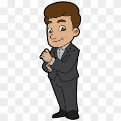 A Confident And Likeable Cartoon Businessman - Cartoon, HD Png Download -  456x1056(#5175236) - PngFind