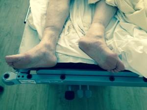Exorotatie rechterbeen bij collum #