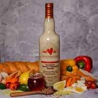Met Liefde Produkte - Slaaisous - Suurlemoen, Heuning en Poppiesaad 750ml