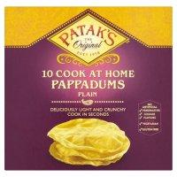 Patak's Plain Pappadums 10's