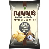 Flanagan's Kettle Fried Chips - Sea Salt & Black Pepper 125g