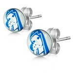 Hypoallergenic Stainless Steel Sensitive Stud Mother Child Earrings