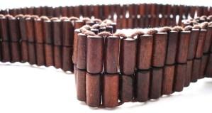 Wooden beaded belt
