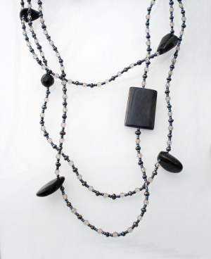 Extra Long Glass gem necklace jewellery  http://spoilmesilly.com.au/