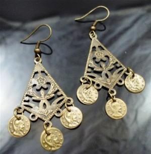 Earrings Flower Coins