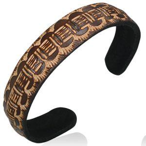 Brown Tribal Cuff Bracelets