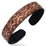 Leather Brown Moon Cuff Bracelets