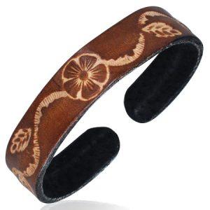 Leather Brown Cuff Bracelet