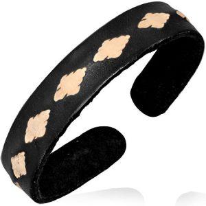 Leather Black Cuff Bracelets
