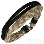 Braided Leather Black Bracelet