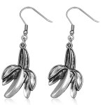 Hypoallergenic Hook Dangling Charm Fruit Banana Earrings