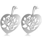 Hypoallergenic Stainless Steel Stud Flower Heart Long Earrings