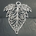 Large Filigree Leaf Style Jewellery Pendant New