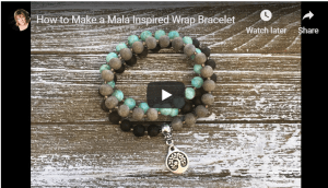 How to Make a Mala Inspired Wrap Bracelet