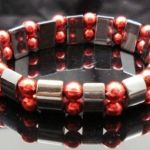 Hematite Gem Acrylic Beaded Stretch Bracelet Bangle NEW
