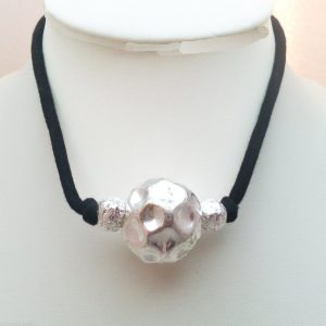 Jewellery-16-Large-Round-Metal-Silver-Meteor-Thing-Womens-Choker-Necklace-New-161364050709