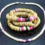 NEW MENS WOMENS BEADED WOOD COCO SURF WOODEN NECKLACE