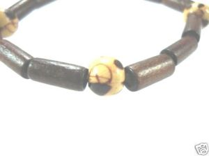NEW-WOMENS-BEADED-WOOD-COCO-SURF-WOODEN-BRACELET-BANGLE-400091506741
