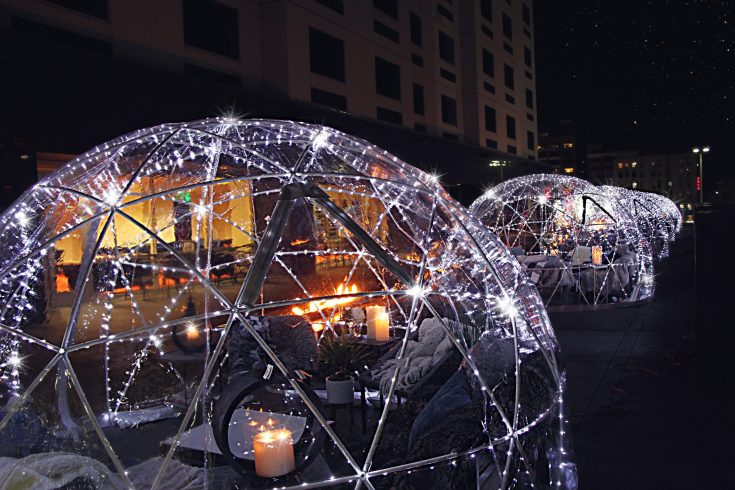 OUTDOOR IGLOOS AT THE DAVENPORT GRAND TERRACE