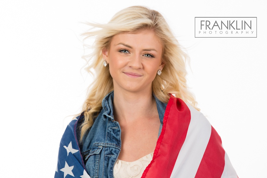 spokane senior photographer american flag