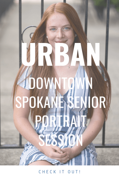 Downtown Spokane Urban senior photoshoot