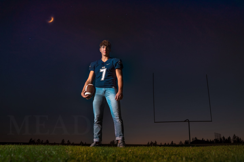 Football senior photo Mead HS Spokane WA