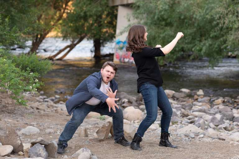 Goofy and lovable engagement photos
