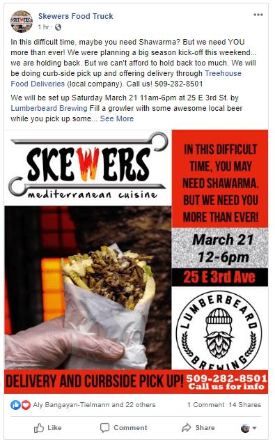 Skewers Food Truck in Spokane