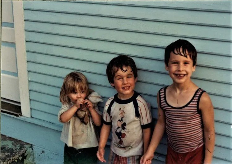 Tedesco kids Paul, Mike, and Kristin circa 1982