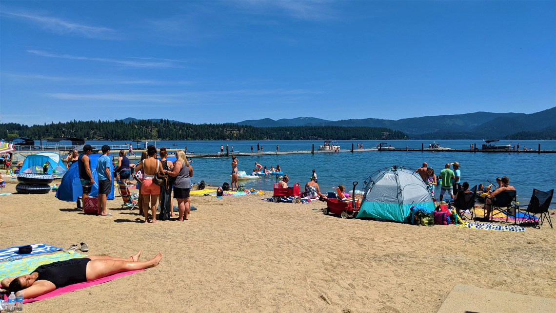 Hayden Lake public beach