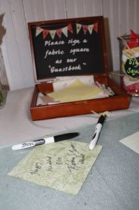 Quilt Square Wedding Guestbook