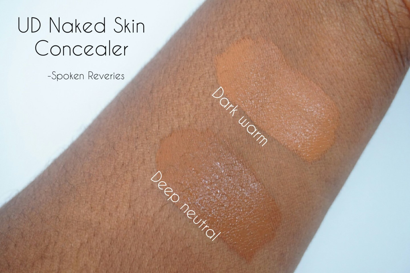 Naked Skin Concealers swatched