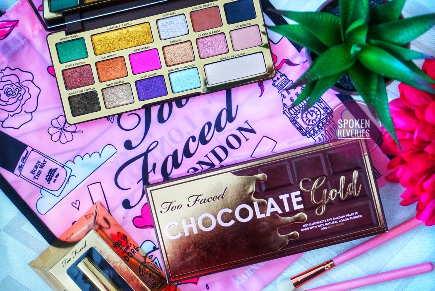 GOLD INFUSED MAKEUP?! TOO FACED CHOCOLATE GOLD BAR PALETTE REVIEW