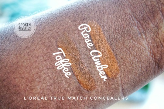 L'Oreal True Match concealer swatches