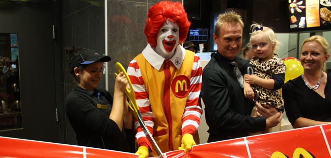 McDonalds' grand opening raises money for local charity