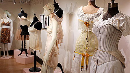 PHOTO BY STEPHANIE LEFEBVRE - Shown above is just a portion of Waist Management: A History of Unmentionables, created by Jonathan Walford. It is on display at the Guelph Civic Museum until April 14.
