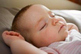 A baby girl sleeping