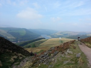 The view across Ladybower Reservoir