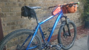 MuddyGoose equipped with bags