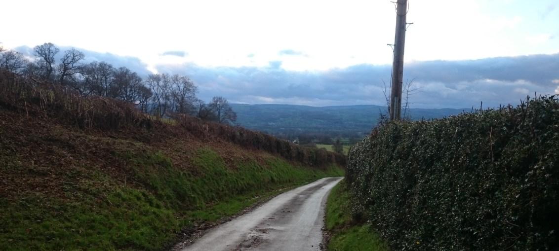 Looking down from 'Moel Arthur'