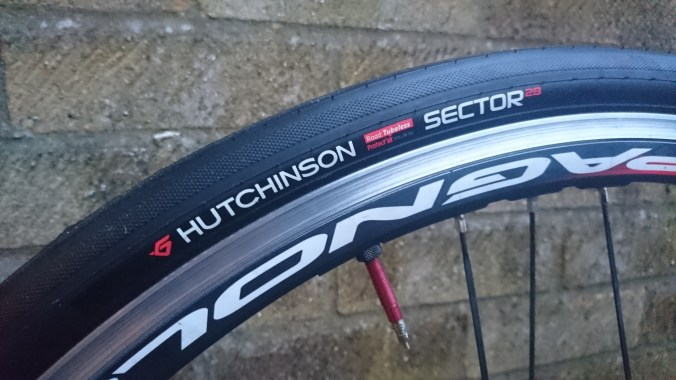 Another shot of the tyre fitted