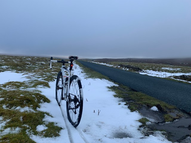 Bike in the Yorkshire Dales snow